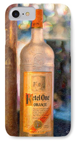 A Bottle Of Ketel One Phone Case by Angela A Stanton