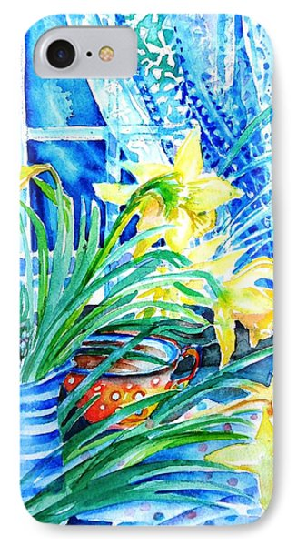 A Bouquet Of April Daffodils  Phone Case by Trudi Doyle