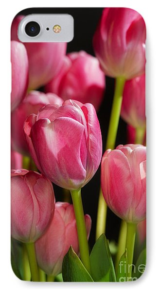 IPhone Case featuring the photograph A Bouquet Of Pink Tulips by Nick  Biemans