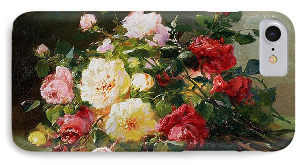 A Bouquet Of Roses IPhone Case by Eugene Henri Cauchois