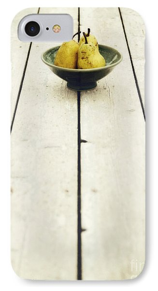 A Bowl Filled With Pears IPhone Case by Priska Wettstein