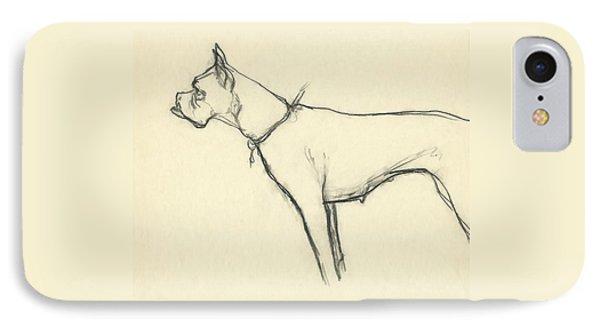 A Boxer Dog IPhone Case by Carl Oscar August Erickson