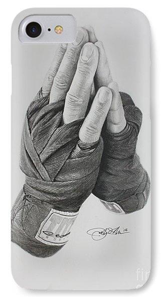 A Boxer's Prayer IPhone Case by Joshua Navarra
