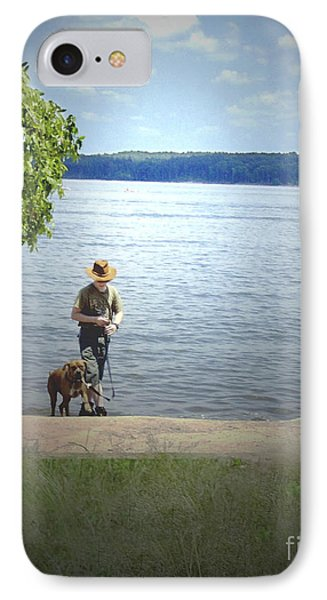 A Boy And His Dog Phone Case by Sandra Clark