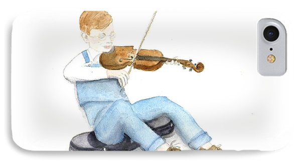 A Boy And His Violin IPhone Case by Ann Michelle Swadener
