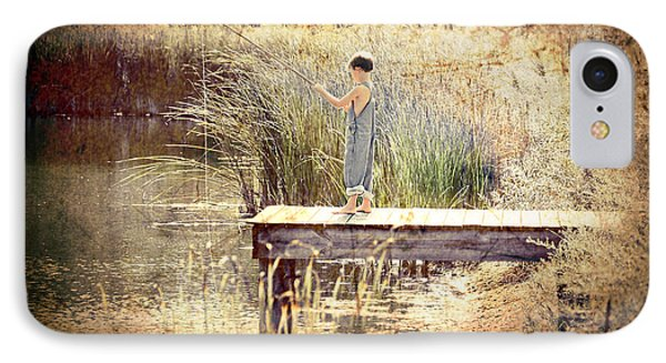A Boy Fishing Phone Case by Jt PhotoDesign