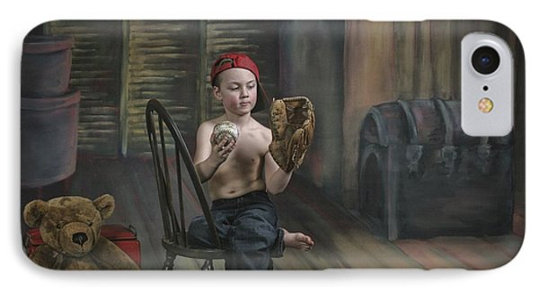 A Boy In The Attic With Old Relics Phone Case by Pete Stec