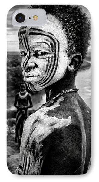 A Boy Of The Karo Tribe. Omo Valley (ethiopia). IPhone Case