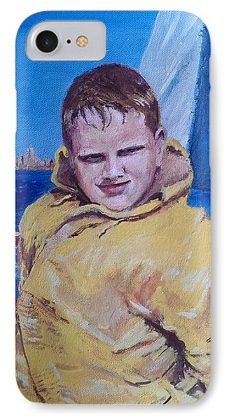 A Boy On A Boat Phone Case by Jack Skinner