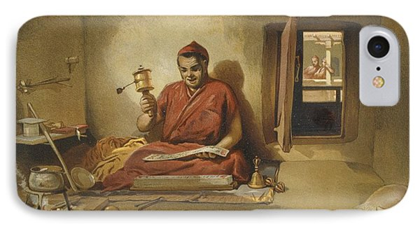 A Buddhist Monk, From India Ancient IPhone Case by William 'Crimea' Simpson