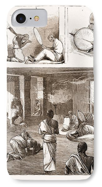 A Buddhist Ordination In Ceylon, Sri Lanka IPhone Case by Litz Collection