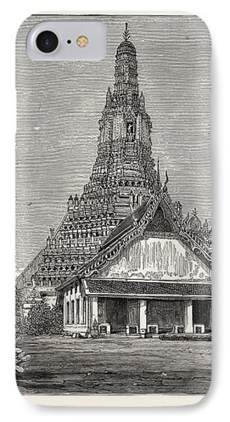 A Buddhist Wat, Or Temple, At Bangkok IPhone Case by English School