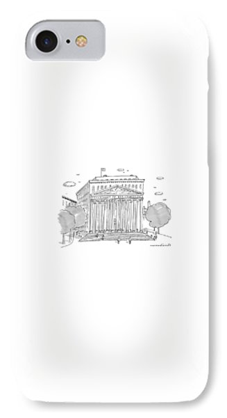 Washington D.c iPhone 7 Case - A Building In Washington Dc Is Shown by Michael Crawford