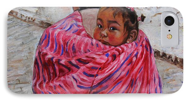 A Bundle Buggy Swaddle - Peru Impression IIi IPhone Case by Xueling Zou