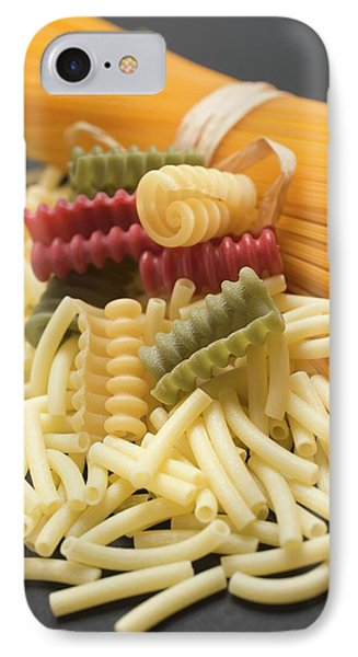 A Bundle Of Spaghetti And Various Types Of Coloured Pasta IPhone Case