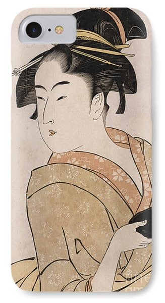 A Bust Portrait Of The Waitress Okita Of The Naniwaya Teahouse IPhone Case