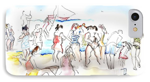 A Busy Day At The Beach IPhone Case
