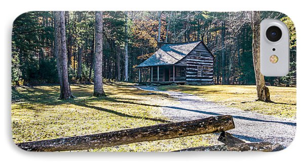 A Cabin In Cades Cove IPhone Case by Marilyn Carlyle Greiner