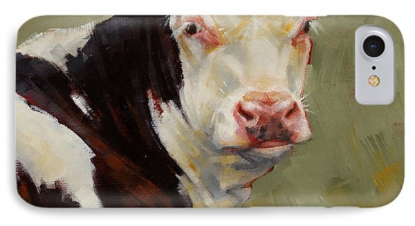 A Calf Named Ivory IPhone Case by Margaret Stockdale