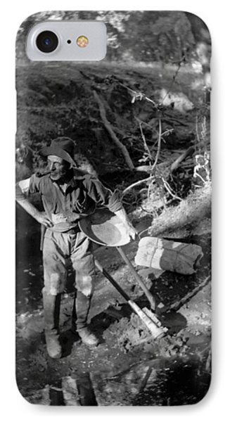 A California Gold Miner IPhone Case by Underwood Archives