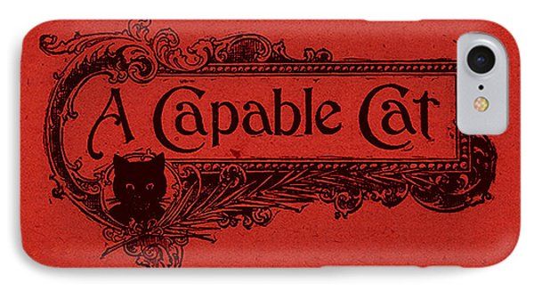 A Capable Cat Sign. Red IPhone Case