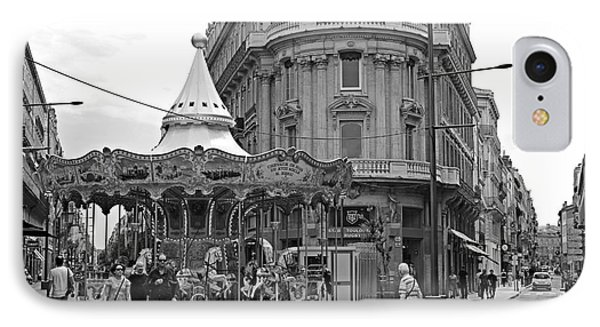 IPhone Case featuring the photograph A Carousel by Cendrine Marrouat