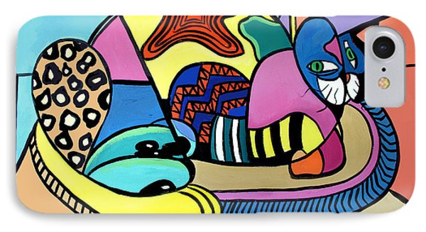 A Cat Named Picasso Phone Case by Anthony Falbo
