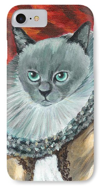 IPhone Case featuring the painting A Cat Of Peter Paul Rubens Style by Jingfen Hwu