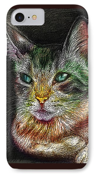 Savanna Cat  Phone Case by Remy Francis