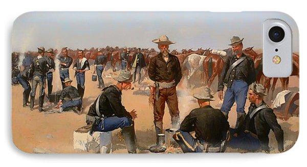 A Cavalryman's Breakfast IPhone Case by Mountain Dreams