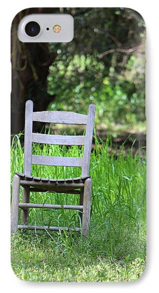 A Chair In The Grass IPhone Case by Lynn Jordan