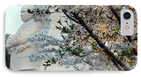 IPhone Case featuring the photograph A Cherry Blossomed Martin Luther King by Cora Wandel