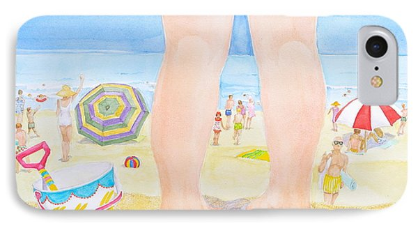 A Child Remembers The Beach IPhone Case by Michele Myers