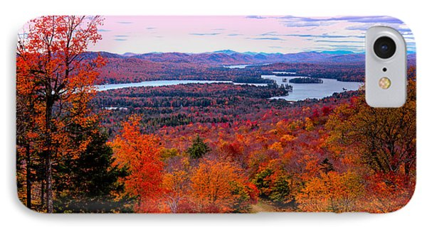 A Chilly Autumn Day On Mccauley Mountain IPhone Case by David Patterson