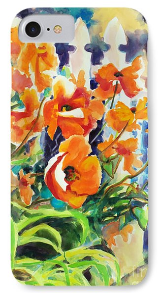 A Choir Of Poppies Phone Case by Kathy Braud