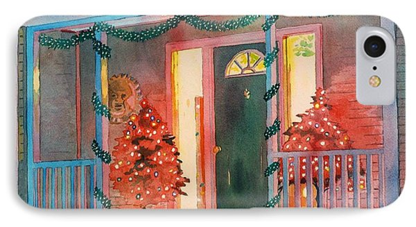 A Christmas At Home IPhone Case by LeAnne Sowa