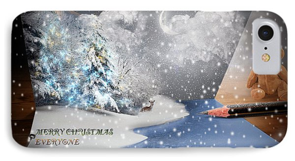 A Christmas Card IPhone Case by Jim  Hatch