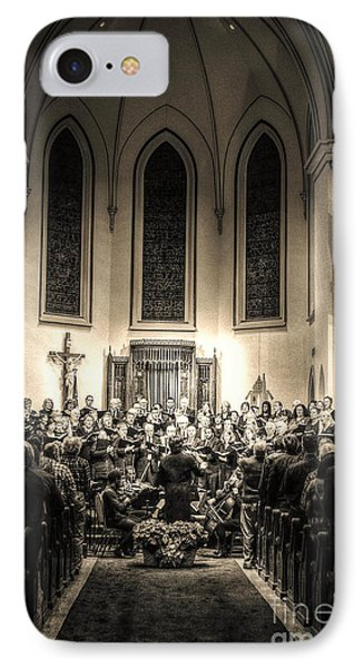 IPhone Case featuring the photograph A Christmas Choir by Maddalena McDonald
