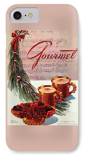 A Christmas Gourmet Cover IPhone Case by Henry Stahlhut