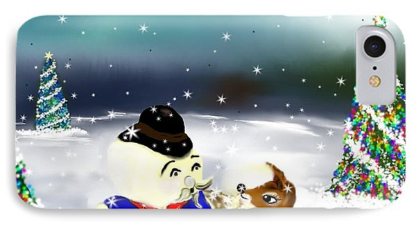 IPhone Case featuring the painting A Christmas Night by Lori  Lovetere