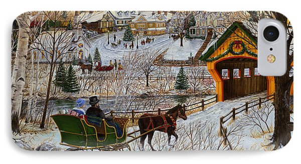 A Christmas Sleigh Ride IPhone Case by Doug Kreuger