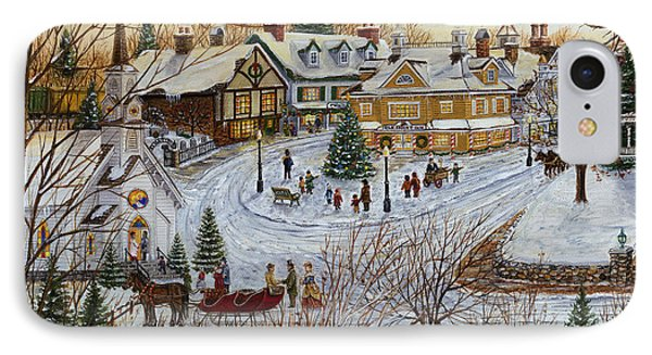 A Christmas Village IPhone Case by Doug Kreuger