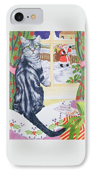A Christmas Visitor For Toby IPhone Case by Suzanne Bailey