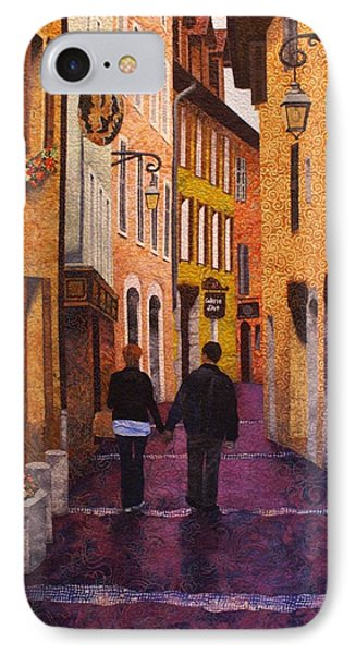 A City Walk In Spring Phone Case by Lenore Crawford