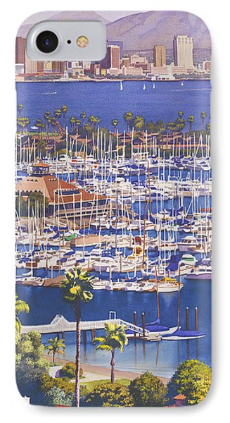 City Scenes iPhone 7 Case - A Clear Day In San Diego by Mary Helmreich