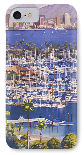 A Clear Day In San Diego Phone Case by Mary Helmreich