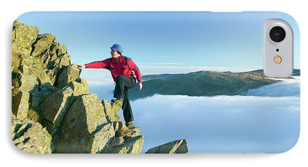 A Climber On Red Screes IPhone Case