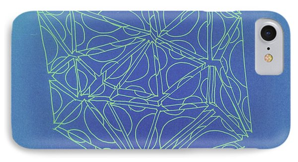 IPhone Case featuring the drawing A Closed Case In Blue by Nancy Kane Chapman