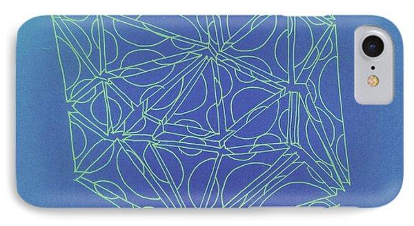 A Closed Case In Blue IPhone Case by Nancy Kane Chapman