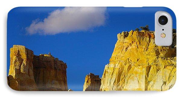 A Cloud Over Orange Rock Phone Case by Jeff Swan